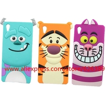 For Sony Xperia Z Z1 Z2 Z3 Z4 Z5 Compact Case Hot Selling Sulley Tiger Cheshire Cat Silicone Cell Phone Cases Cover Skin