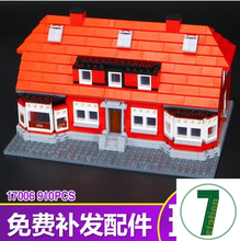 New LEPIN 17006 BUILERDS Collection of red house Toy building blocks 4000007 limited edition gift 910pcs brick ole lirk's house