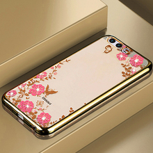 Buy Coque Huawei p10 5.1''case Silicone Bling Diamond Clear Cover Soft TPU Flower Flora Phone Cases for $1.99 in AliExpress store