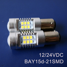 High quality 12/24V Truck Freight Car BAY15d Brake Light 1157 PY21/5W P21/5W BAZ15d Led Light Bulb Lamp free shipping 20pc/lot