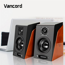 2017 New Arrival Subwoofer Restoring Ancient Ways Desktop Small Computer PC Speakers With USB 2.0 & 3.5mm Audio Interface PVS18(China)