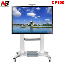 NB CF100 Luxury Heavy Duty Aluminum 60-100inch LED LCD TV Mobile Cart Free Lifting And Extension Base(China)