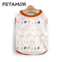 PETAMOR 14 Styles Dog Clothes Summer Pets Dogs Clothing Cotton Dog Vest Clothes For Dogs Costume Puppy Chihuahua Cat Clothes(China)