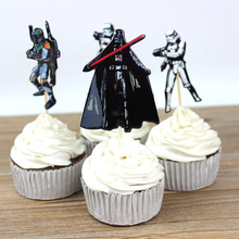 48pcs The Star Wars Cupcake Toppers Cake Party Decorations Festive Holiday Event And Kids Birthday Party Favors Supplies