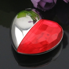 Red Diamond Heart Waterproof Metal USB Flash Drive 1TB 64GB Pen Drive USB 32GB 128GB 2TB 2.0 Memory Stick Disk Key Pendrive Gift