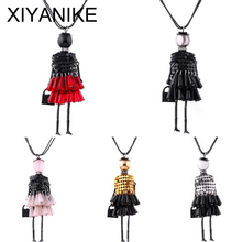 2016 Fashion Doll Pendant Necklace Jewelry Lovely Dress Jewelry Women Doll Necklace Brand Brincos Accessory Jewelry XY-N601