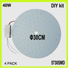 Wholesale DIY install 120 LED surface mounted 40W LED circular panel PCB disc dia30cm warm white cool white LED circular tube