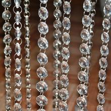 5M (16.4 )FT Crystal Hanging Beads Clear Acrylic Bead Garland Chandelier Hanging for Wedding Decoration Home Party Supplies(China)