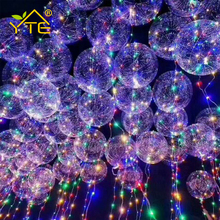 YTE 18 Inch Luminous Led Balloon 3M LED Air Balloon String Lights Round Bubble Helium Balloons Kids Toy Wedding Party Decoration(China)