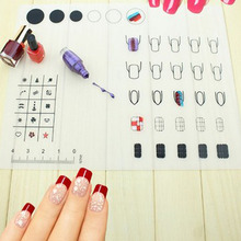 Newest Nail Silicone Pad Nail Art Work Space Mat Pad Nail Stamping Plate Vinyls Table Cover Protector