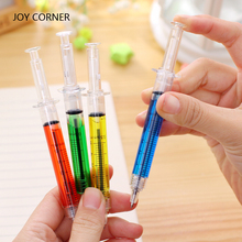 School Supplies 2018 (12 Pieces/Lot) Plastic Syringe Pens Personalized Gifts for Teachers Nurse Pen Lovely Stationery JOY CORNE(China)