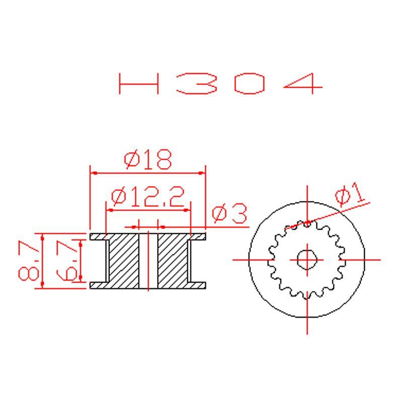 3D printer  2GT 20 teeth wheel Perlin passive idler pulley wheel  GT2 Pulley 16/20 Without Teeth Teeth Timing Gear 3D Printers