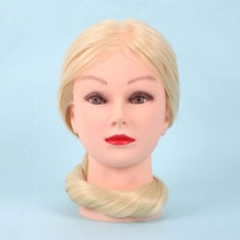 26'' Silicone 30% Real Hair Salon Women Mannequin Manikin Training Head Practice Hairdressing Head Model