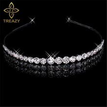 Buy TREAZY Elegant Bridal Hair Accessories Women Hairbands Crystal Wedding Crown Tiara Wedding Hair Jewelry Accessories for $2.07 in AliExpress store