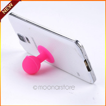 Free Shipping Rubber Octopus Sucker Ball Stand Holder For iPod/ iPhone/ Samsung /Tablet PC Mobile Phone Acessories