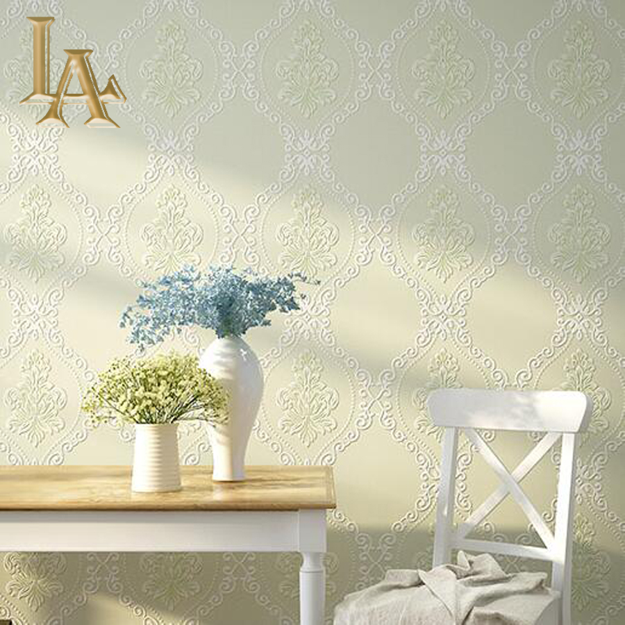 Modern European Simple Plaid Damask Wallpaper For Walls 3 D Luxury Bedroom Nonwoven Embossed Beige Brown Wall paper Rolls <br><br>Aliexpress