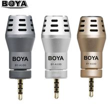 BOYA BY-A100 BY A100 3.5mm TRRS Connection Mini Directional Condenser Microphone for iPhone/iPad/iPod Touch for video audio(China)