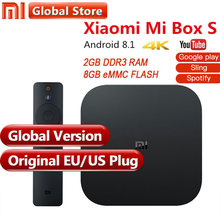Первоначально Глобальный Версия Xiaomi mi Box S 4 Android 8,1 4 К QuadCore Smart ТВ коробке 2 ГБ 8 ГБ HD mi 2,4 г 5,8 Г Wi-Fi BT4.2 Mali450 1000Mbp(China)