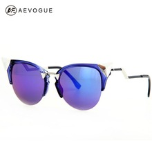 AEVOGUE Brand Cat Eye sunglasses women Artificial crystal decoration Good Quality sun glasses women UV400 AE0177