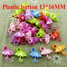 200pcs umbrella plastic cartoons sewing kids  button clothing accessories charms crafts  P-173