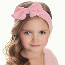 Bebe Girls Headband Tie Knot Knitted Turban Cotton Children Kids Elastic Hair bands bows Headwrap Hair Accessories(China)
