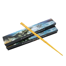 Newest Cosplay Hermione Granger Role Play Resin Magical Wand Gift In Box Harry Potter Magic Wands(China)