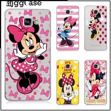 super lovely cartoon Mickey Minnie mouse plastic phone case Cover For samsung A3 A5 A7 2017 J1 J5 J7 2016 note 3 4 5 Cover Case