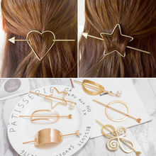 YouMap New Hairpins Heart Round Hair Pin Jewelry Oval Stars Hair Clip For Women Barrettes Head Accessories Bijoux De Tete