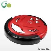 Intelligent red robot vacuums cleaners for home appliance, wet and dry mop,low noise,automatic charging,remote control cleaner
