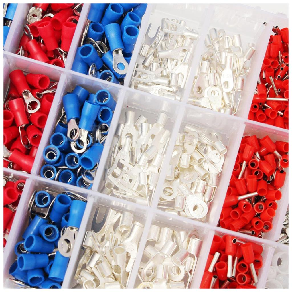 1000Pcs Female & Male Spade Insulated Connectors Crimp Electrical Wire Terminal