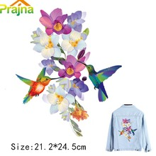Prajna Big Bird Vintage Applique Flower Patch Heat Thermal Transfer Iron On Patches For Clothing DIY Jacket Washable Patches D1