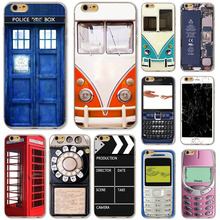 Nostalgic For Apple iPhone 4 4S 5 5S 5C 6 6S 6Plus 6s Plus Soft Silicon Phone Case radio Door Patterns Old 3310 mobile phone Bag(China)