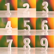 0 - 9 Freestanding Training Aid Wooden Numbers For Wedding Home Party Table Decoration Game Numbers 1 Pc