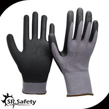SRSAFETY 4 pairs 15 gauge high quality safety gloves micro foam nitrile dipped gloves
