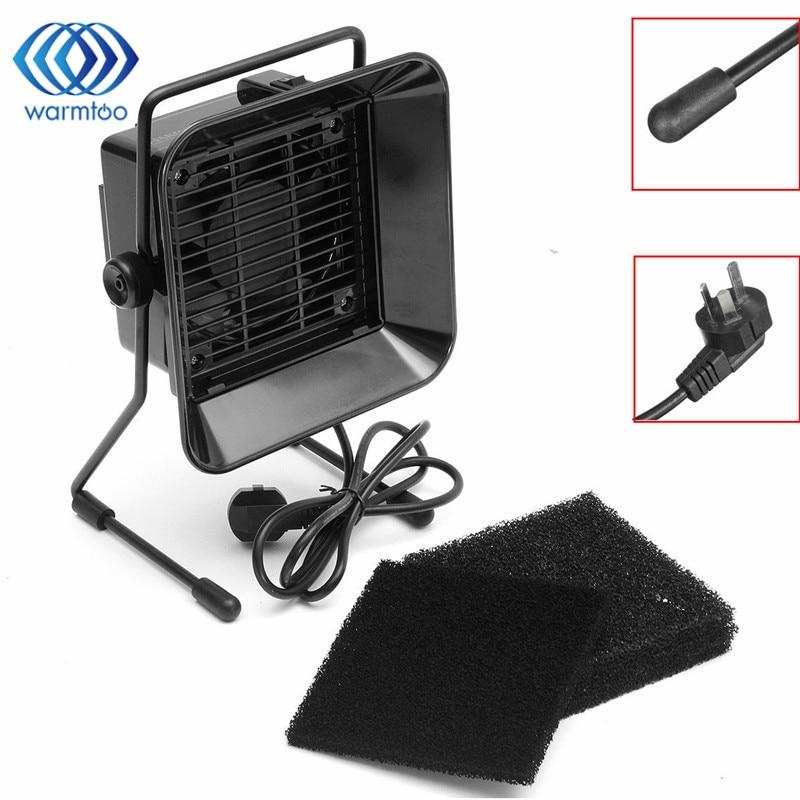 1pc 30W 220V  Desktop Solder Smoke Absorber Extractor Air Filter Fan +3 pcs Activated Carbon Filter Sponge<br>