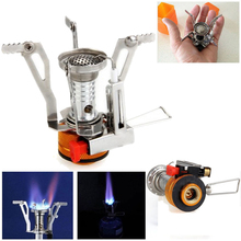 Stove Gas Outdoor Cocina Camping Hiking Equipment Stoves Portable Folding Propane Flame Mini Cooking Tools Blaze Cooker Mini Apg