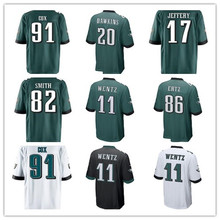 2017 New Youth Brian Dawkins Corey Graham Torrey Smith Carson Wentz Alshon Jeffery Fletcher Cox Zach Ertz Eagles Game jerseys(China)