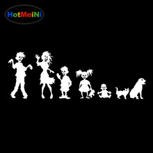 HotMeiNi 30CM Zombie Family Decal Funnyl bumper Car sticker for car, truck, glass Black/Sliver(China)