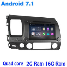 Android 7.1 Quad core Car dvd gps player for honda civic 2006-2011 with rds wifi 4G usb bluetooth mirror link auto Stereo(China)