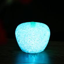 EVA Fruit Apple Crystal LED Night Light Table Lamp For Christmas Wedding Decor Button cell Night lights(China)