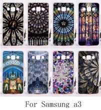 Amazing Geometric Design Colourful Church Roof Cover For Samsung Galaxy A3 2014 A3000 A300F Fashion Hard and Silicon Phone Cases