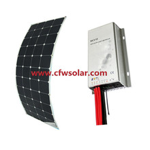 wholesale 130W solar panel, with 12V&24V Auto MPPT solar charege controller,  with connection Box+0.9M cable, MC4 connector,