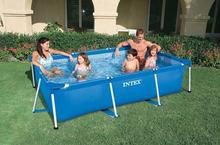 INTEX 28271/58980 rectangular frame bracket pool inflatable pool without 260 * 160 * 65cm With filter pump