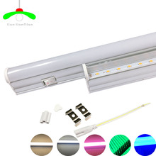 LED switch Tube T5 Light 30cm 6w 60cm 10w LED Fluorescent Tube T5 Wall Lamps white warm pink green blue T5 Bulb Light