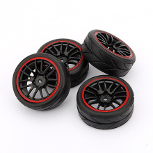 New 4PCS Rubber RC Racing Tires Car On Road Wheel Rim Fit For HSP HPI 9068-6081 1/10