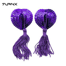 Buy New  Sex Product Toys Women Sexy  Lingerie Sequin Tassel Breast Bra Nipple Cover Pasties Stickers Petals Clothing Accessories