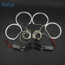 FSYLX 2sets Car CCFL Halo Rings Angel Eyes Headlights for BMW E46 projector E36 E39 E318A04 Light Kits 4x131mm White(China)