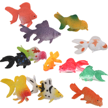 Plastic Artificial Goldfish Animals Toy 12pcs Colorful Goldfish Model Building Kits Toys Supplies Accessories Creative Gifts