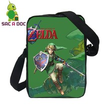 Men Messenger Bags Anime The Legend of Zelda Link Printing Shoulder Bags Cartoon Crossbody Bags for Kids Small Handbags(China)