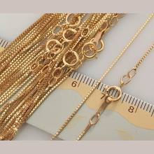 IB3121 Fashion Gold filled Chains Necklace For Women 16/18inch 0.85mm thin box Chain high quality 1pieces/lot(China)